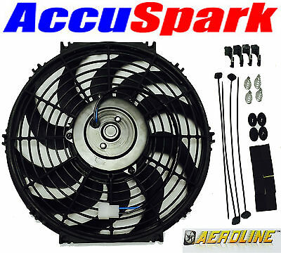 "Intercooler 12v Cooling Fan HOT ROD KIT CAR 9/"" Aeroline® Electric Radiator"