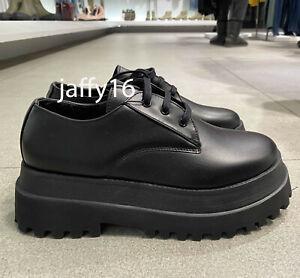 zara derby platform shoes online store
