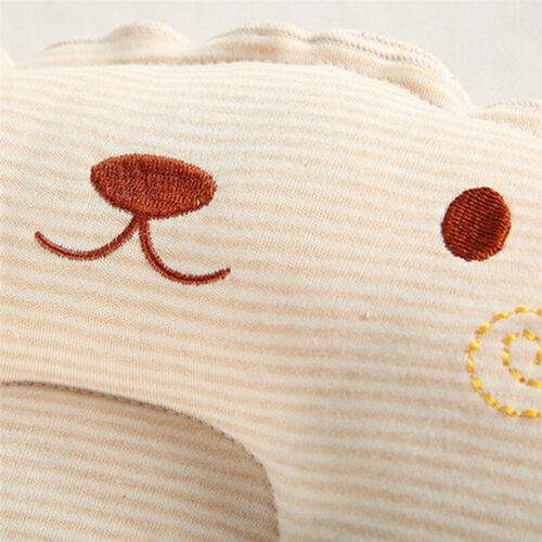 Infant Newborn Baby Anti Roll Pillow Cushion Prevent Flat Head Sleep Support N7
