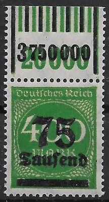 1919-1923 Deutschland Sporting Minr 287b Vom Walzenoberrand 1'11'1/1'5'1 Geprüft Gotw.zenker Bpp