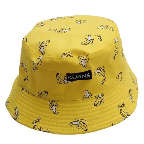 Bucket Hat  Man Women Unisex Banana Hat Fruit Vintage Cap Fashion KI
