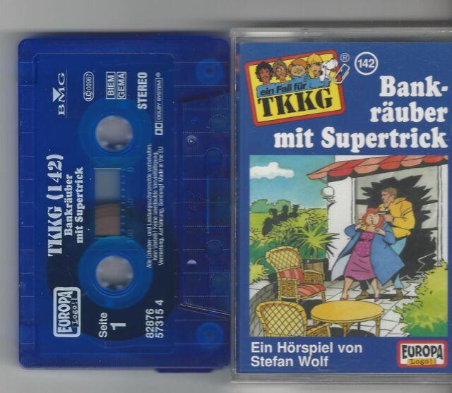 MC - TKKG - Folge 142 - Bankräuber mit Supertrick  - Kassette Europa- Hörspiel