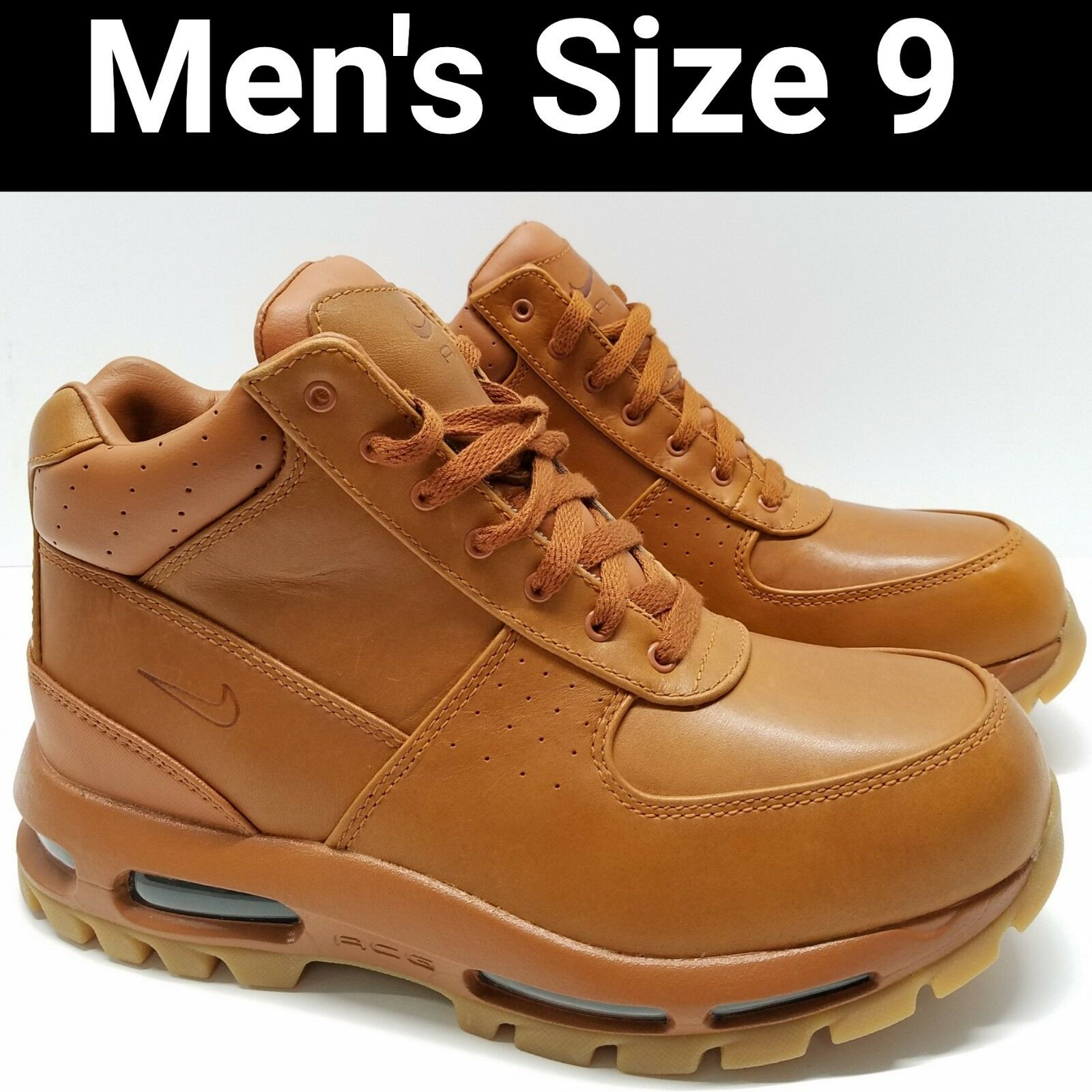 d031a56abf Nike Air Max Goadome BOOTS -tawny/gum Light Brown -865031 208 Mens Sz 9