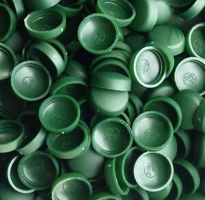 50 X Petit, Patrimoine Vert, 2 Pièce Dôme Bouchon à Vis Couvre Snap Caps Pro-dec-afficher Le Titre D'origine