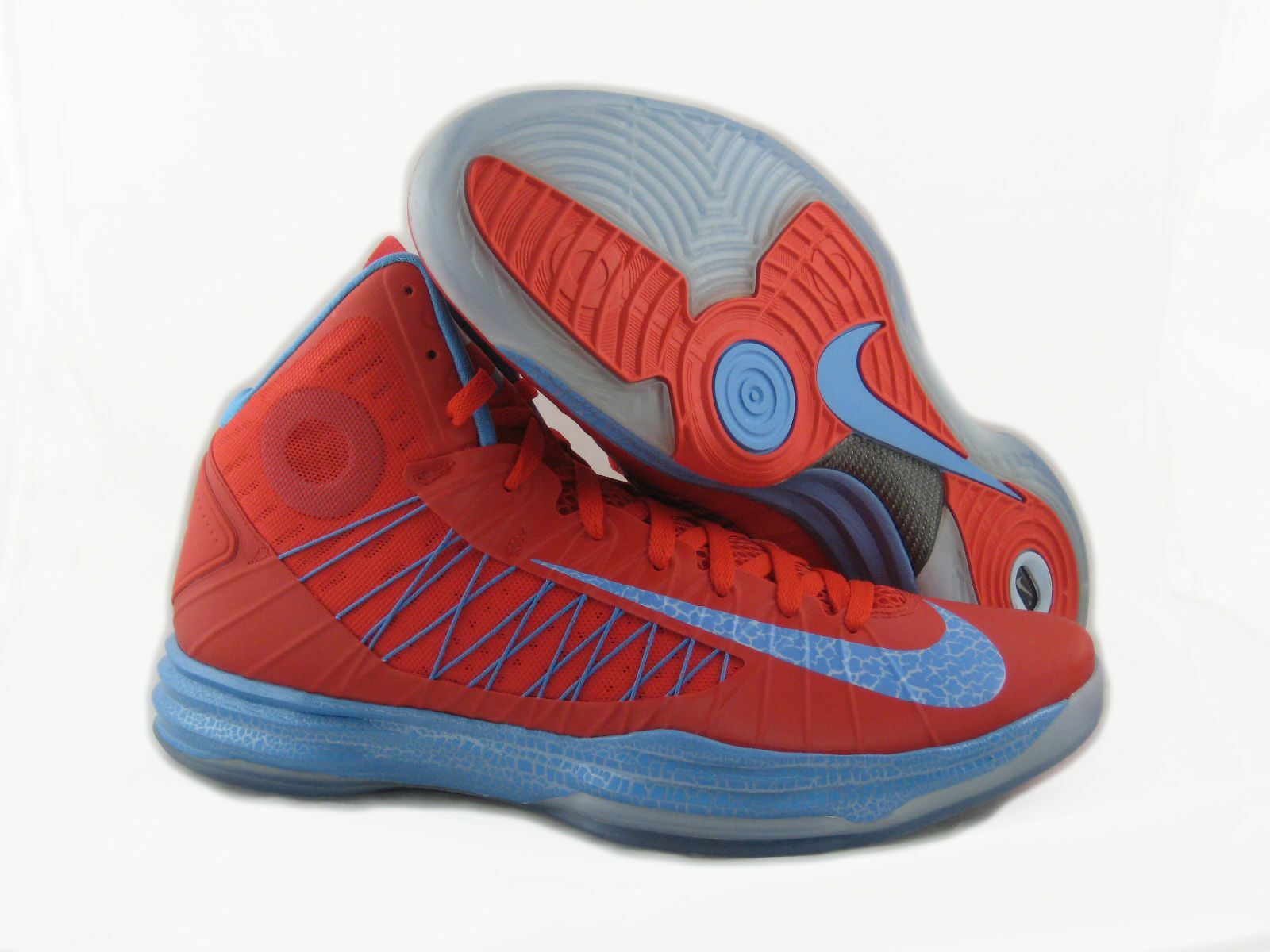 New Nike Men's Hyperdunk+ BG 32  Basketball Shoes Red/Blue 542917-600*
