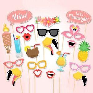 21pcs-Flamingo-Hawaii-Themed-Summer-Party-Photo-Booth-Props-Kit
