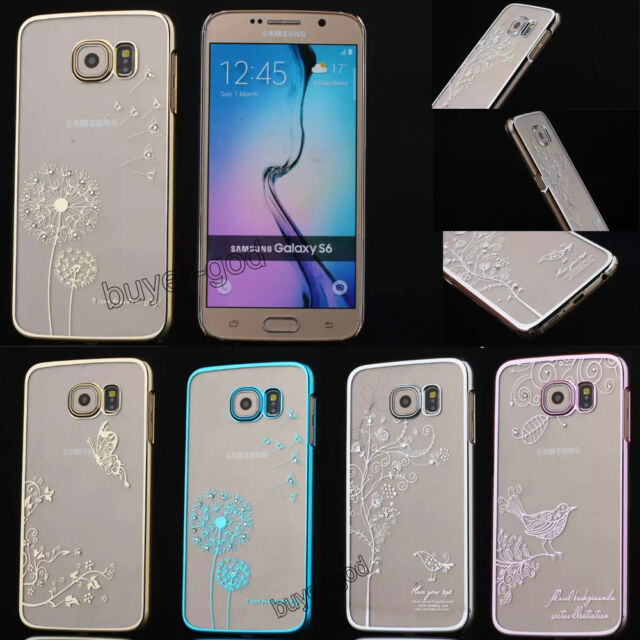 New Crystal Diamond Transparent Back Case Cover For Samsung Galaxy S6 / Note 3 4