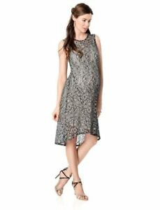 8e56175369ae9 Image is loading Weston-Wear-Maternity-Dress-High-Low-Hem-lace-