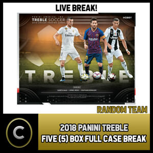 2018-19 PANINI TREBLE SOCCER 5 BOX FULL CASE BREAK  S012 - RANDOM ... 68d8037d2