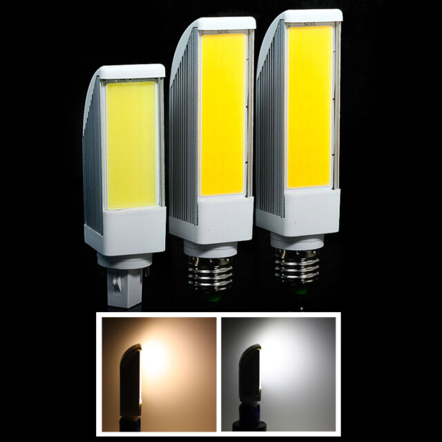 COB Dimmer 7W/9W/12W E27/G24 LED Spotlight Horizontal Plug Bulb Super Bright