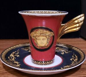 Details about Versace Medusa Coffee Cup And Saucer High NEW IN BOX