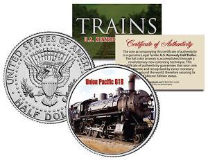 UNION-PACIFIC-618-TRAIN-Famous-Trains-JFK-Half-Dollar-Colorized-U-S-Coin
