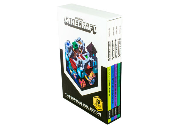 Minecraft: The Survival Collection 4 Book Set, Exploration, The Nether & The End