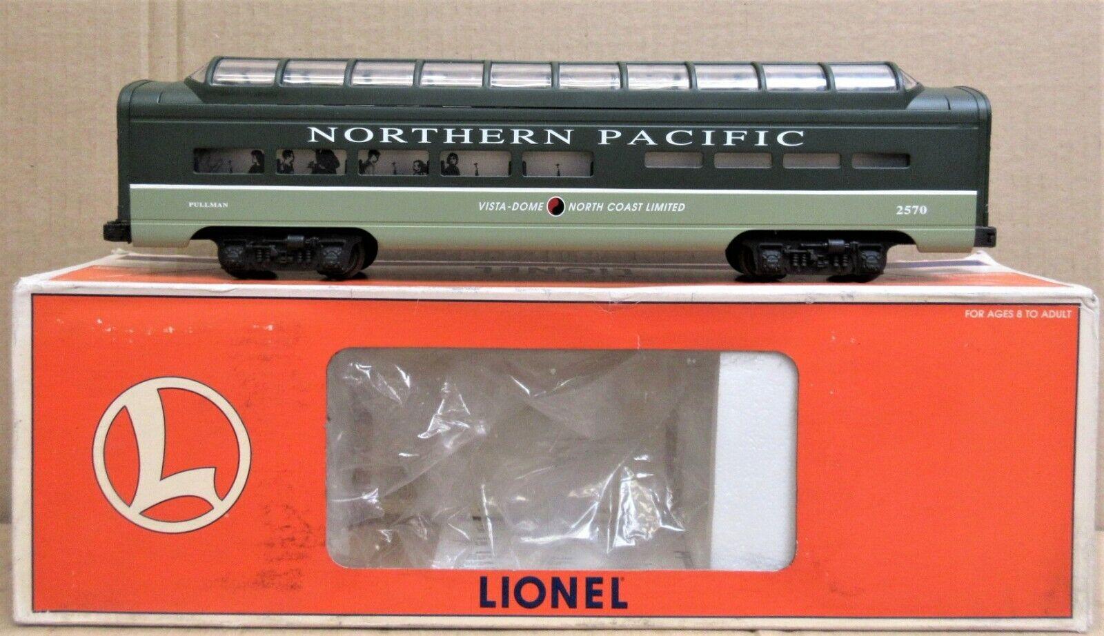 Lionel 6-19169 NP Northern Pacific Aluminio vista-Dome coche de entrenador de pasajeros utilizado