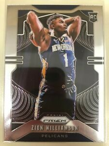 2019-20-PANINI-PRIZM-NBA-ZION-WILLIAMSON-248-RC-ROOKIE-PELICANS-MINT-INVEST