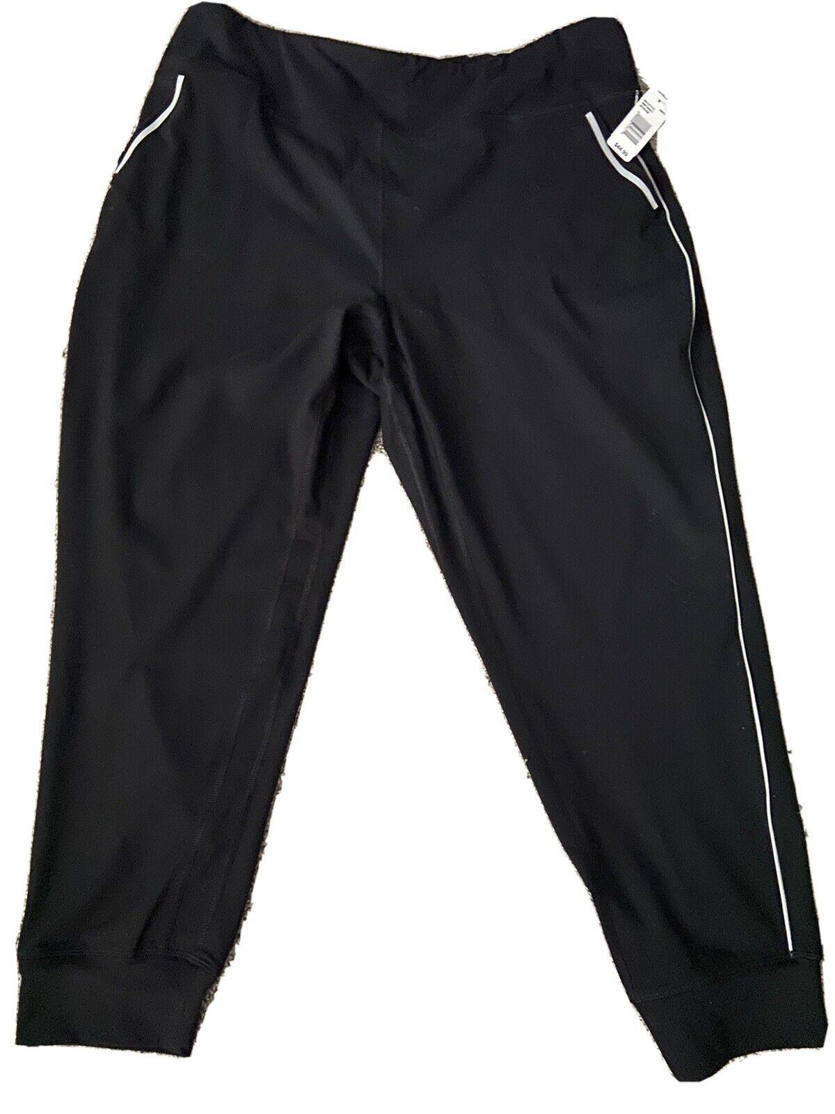 NWT Women's Nine West Active Black Elastic Workout Pants Size 3X