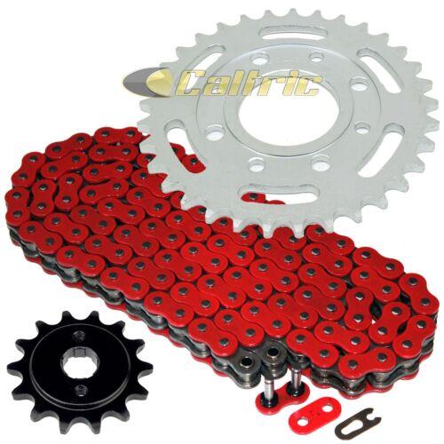 Red O-Ring Drive Chain /& Sprockets Kit Fits HONDA CB250 Nighthawk 250 1991-2008