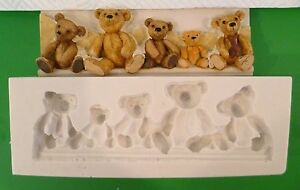 TEDDY-BEAR-BORDER-SILICONE-MOULD-FOR-CAKE-TOPPERS-CHOCOLATE-CLAY-ETC
