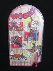 Metal Amp Plastic Handheld Pinball Rodeo Game 2007 Schylling