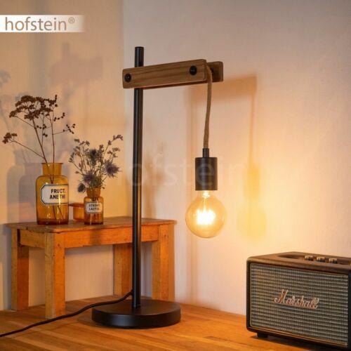 Holz//schwarz Wohn Schlaf Zimmer Beleuchtung Lese Lampe Retro Nacht Tisch Leuchte