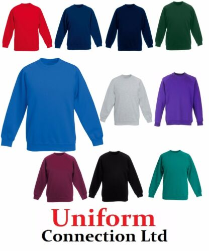 Sweat shirt Uniforme scolaire PE Sports Tout Neuf Garçons Filles Unisexe Gris *