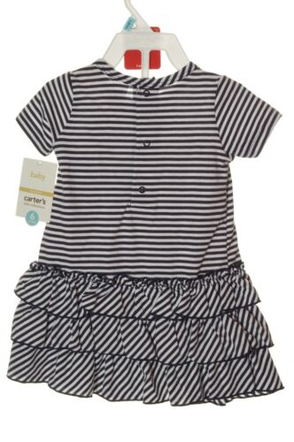 Carters Baby Girls Fourth 4TH of JULY Cotton Ruffle Sun Dress 3 6 Months NEW NWT