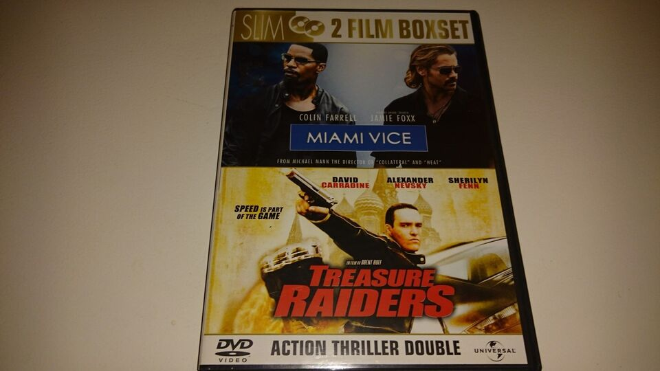 Miami Vice og Treasure Raiders, DVD, action