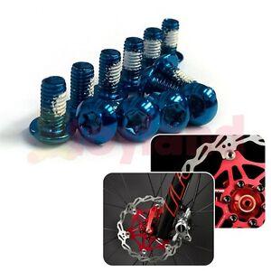 12-X-Anodizado-Color-M5-Pernos-De-Rotor-De-Freno-de-disco-de-ciclo-bicicleta-de-montana-MTB-XC-DH-FR