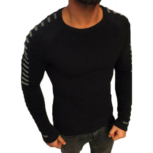 Men Casual Long Sleeve Sweater Jumper Formal Knit Shirt Tops Pullover Blouse Lot