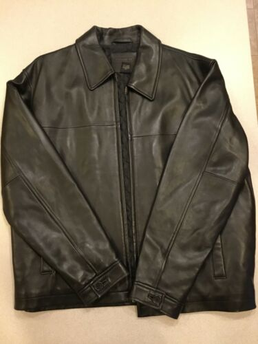 Coach Men's Back Leather Jacket in Medium