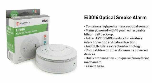 Aico Ei3016 Optical Smoke Alarm NEW BOXED