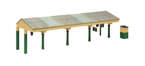 Bachmann-44-089G-OO-Gauge-Bluebell-Station-Canopy-Green-and-Cream