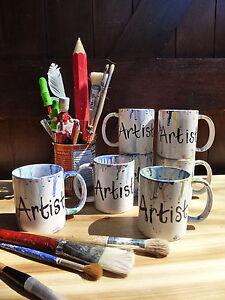Hand-painted-amp-glazed-Artists-Art-Painters-mug-cup-NEW