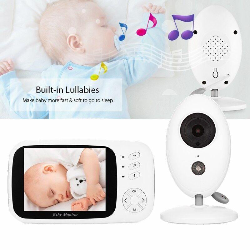 Wireless 2-Way Talk Baby LCD Video Monitor Camera Temperature Display Babysitter