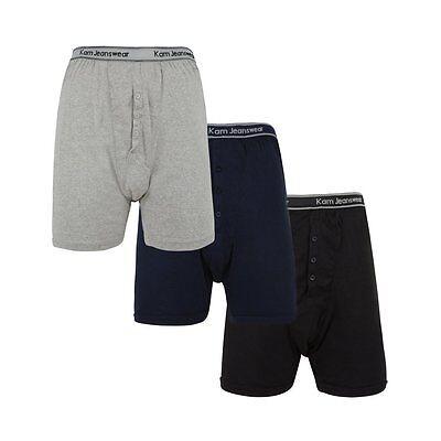 KAM 3 Pack Boxer Shorts 2XL,3XL,4XL,5XL,6XL,7XL,8XL