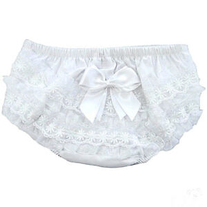 Baby Girls Frilly Pants Knickers Romany Pink Organza Satin Bow Soft Touch 12-18m