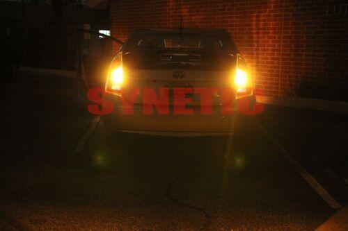 2x 1156 7506 BA15S High Power 50W LED 750LM Amber Yellow Turn Signal Light Bulb