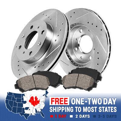Fits 93 94 95 96 97 Civic del Sol Front Rear Drill Slot Brake Rotors Ceramic Pad
