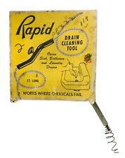 Vtg Rapid Spring Division General Wire Drain Cleaning Tool Pittsburgh Orig Box