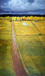 Donna-Clair-Art-AUTUMN-FIELDS-AT-RANCHITOS-60-034-x36-034-Orig-Oil-Painting