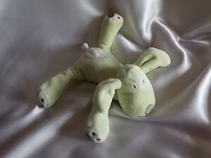 Doudou-chien-vert-tache-blanche-Obaibi