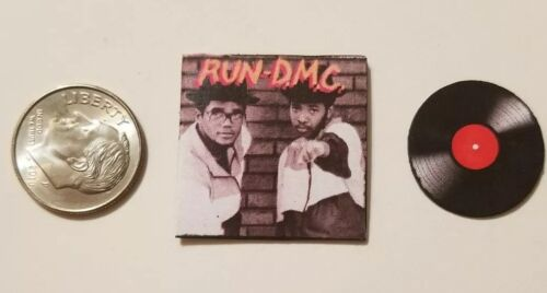 "Dollhouse Miniature Album 1/""  1//12 scale Barbie  Action Figure Run DMC Rap music"