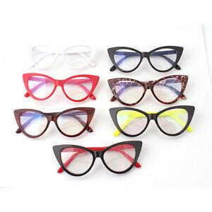 New Vintage Cat-Eye Shape Women Lady Girls Plastic Plain Eye Glasses