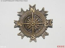 steampunk goth brooch badge bronze compass pirate Assassin's creed black sails