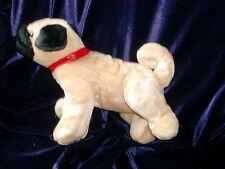 "GUND Chinese Pug Stuffed Animal Plush Red Collar 14"" 13082 Puppy dog"