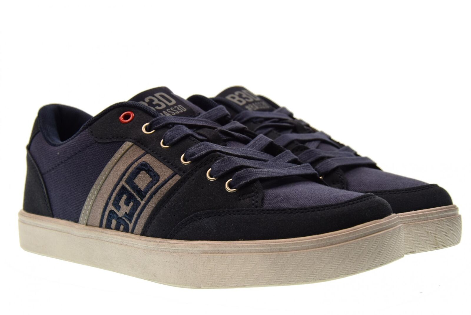 B3D Shoes basse scarpe uomo sneakers basse Shoes 40182 BLU P18 0d27c6