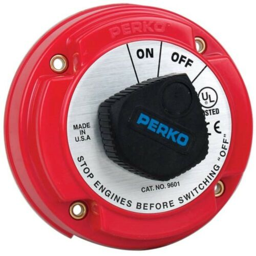 Perko 9601DP 250A Battery Disconnect Switch For 12,24 Or 36V Systems