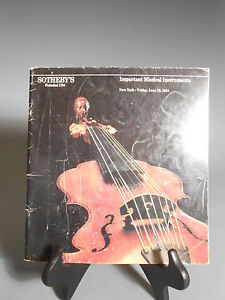 Sotheby S Important Musical Instruments New York June 29 1984 Auction Catalog Ebay