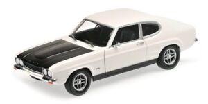 Ford Capri Rs 2600 Blanc & Noir 1970 Modèle 1:18 Minichamps