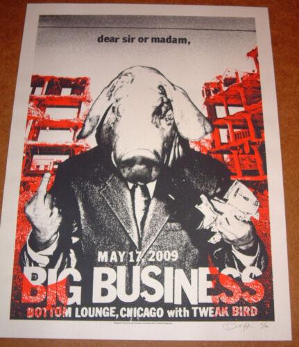 BIG BUSINESS CONCERT POSTER; Chicago 05/17/09 Bottom Lounge; Dan MacAdam SIGNED